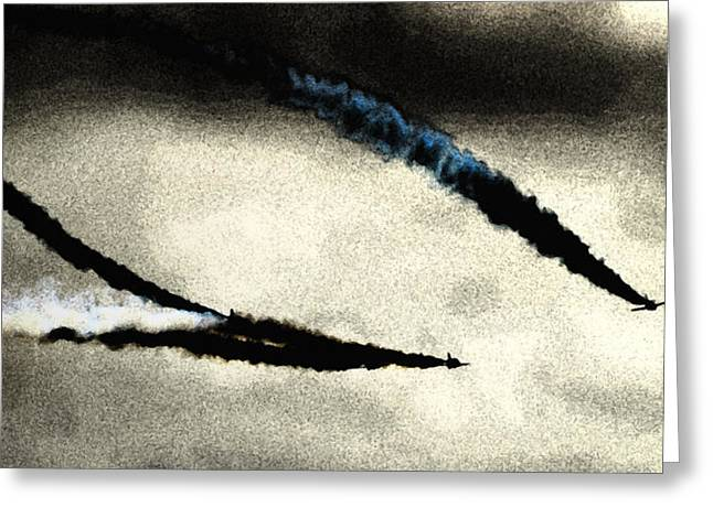 Smoke Trail Greeting Cards - Fresco Arrows Greeting Card by Sharon Lisa Clarke
