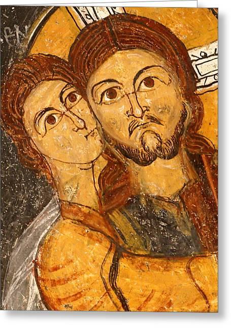 Testament Greeting Cards - Fresco at St John s Church Turkey Greeting Card by Ronald Jansen