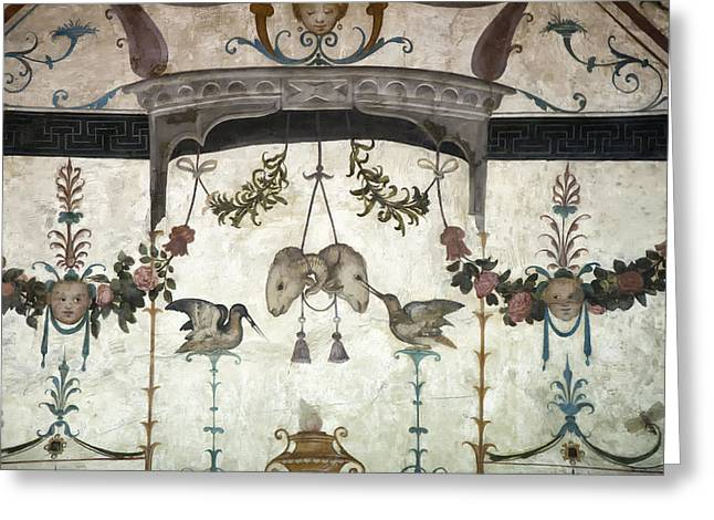 Best Flower Images Greeting Cards - Fresco on the Ceiling in Palazzo Vecchio Greeting Card by Melany Sarafis