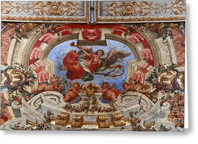 Ribatejo Greeting Cards - Frescoes in the ceiling Greeting Card by Jose Elias - Sofia Pereira