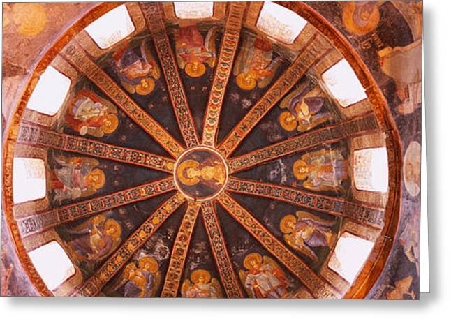 Byzantine Greeting Cards - Frescos In A Church, Kariye Museum Greeting Card by Panoramic Images