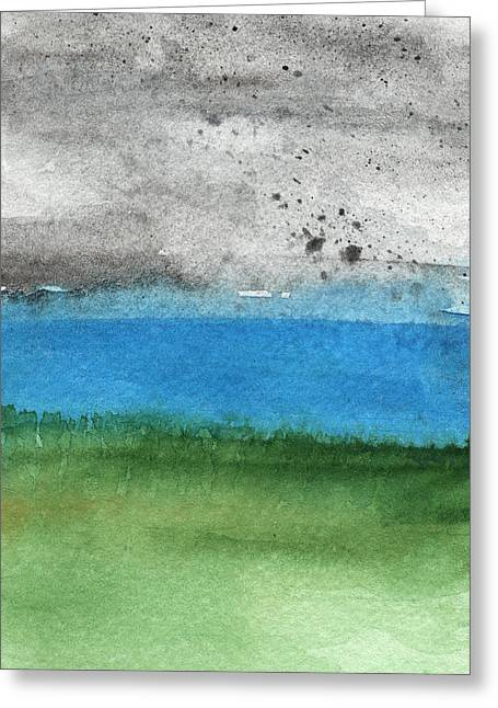 Bedroom Art Greeting Cards - Fresh Air- landscape painting Greeting Card by Linda Woods
