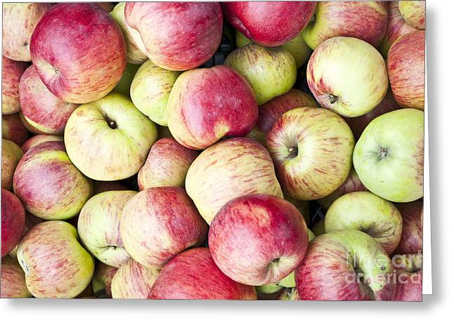 Royal Gala Greeting Cards - Fresh apples background - can be used as wallpaper Greeting Card by Aleksandar Mijatovic