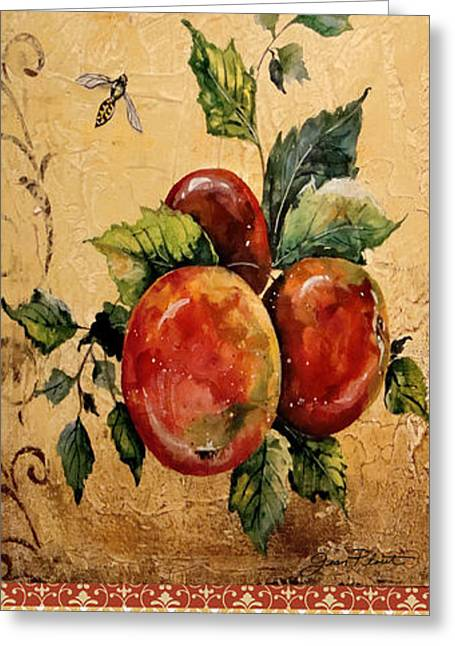 Acrylic Art Greeting Cards - Fresh Apples Greeting Card by Jean Plout