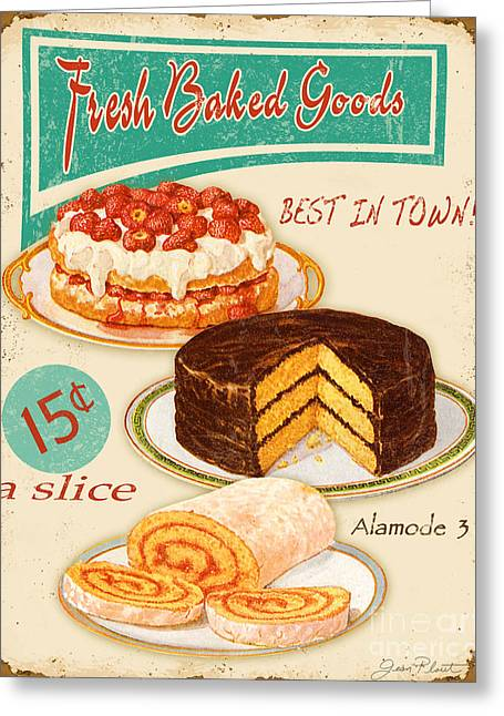 Whipped Cream Greeting Cards - Fresh Baked Good Greeting Card by Jean Plout
