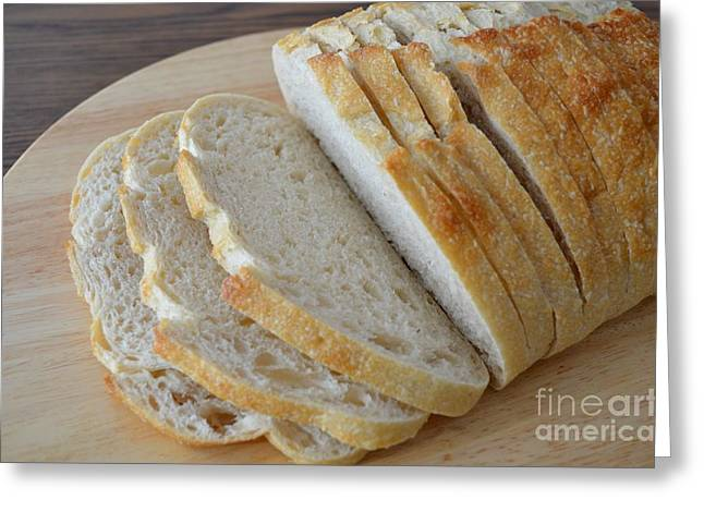 Loaf Of Bread Greeting Cards - Fresh Baked Sourdough Greeting Card by Mary Deal