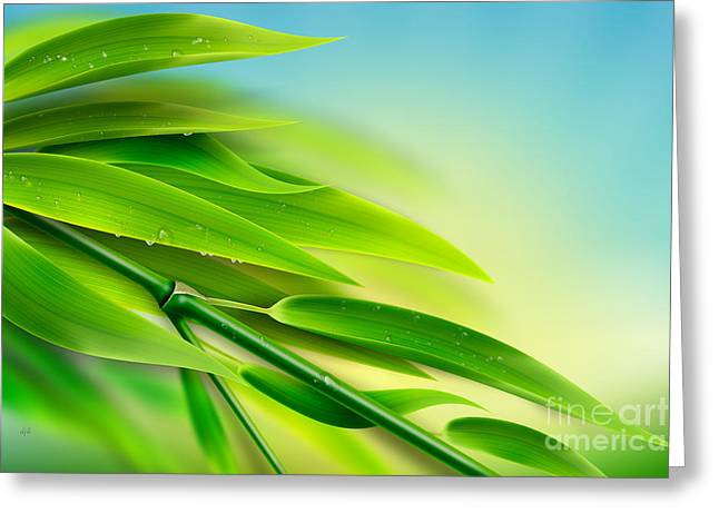 Fresh Bamboo Greeting Card by Bedros Awak