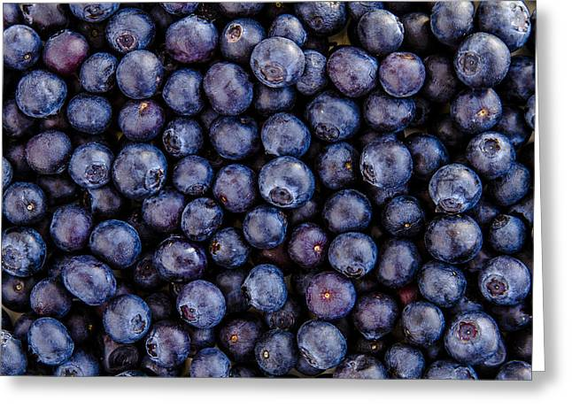 Locally Grown Greeting Cards - Fresh Blueberries Greeting Card by Teri Virbickis