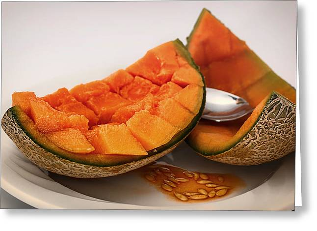 Cantaloupe Greeting Cards - Fresh Cantaloupe Greeting Card by Mountain Dreams