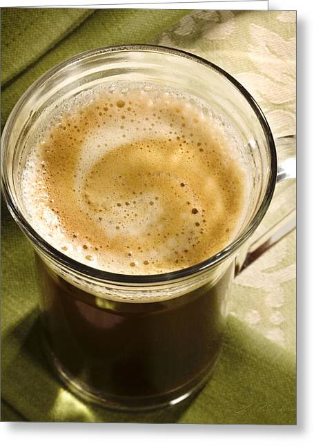Mug Greeting Cards - Fresh Coffee in Glassmug Greeting Card by Iris Richardson