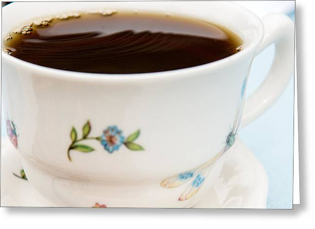 Owner Greeting Cards - Fresh cup of Coffee Greeting Card by Iris Richardson
