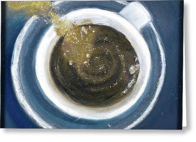 Pouring Pastels Greeting Cards - Fresh Cup Greeting Card by Trish Bilich