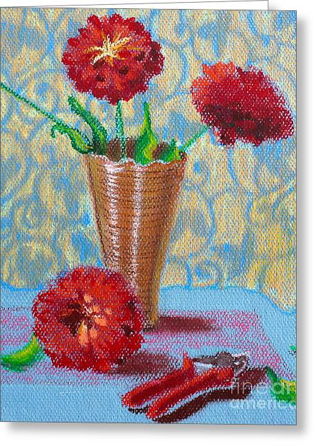 Clippers Pastels Greeting Cards - Fresh Cut Flowers Greeting Card by Tricia Lesky