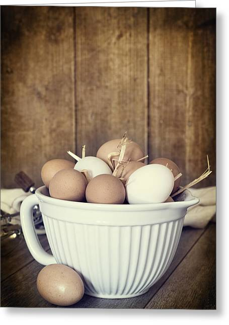 Fresh Eggs Greeting Cards - Fresh Eggs Greeting Card by Amanda And Christopher Elwell