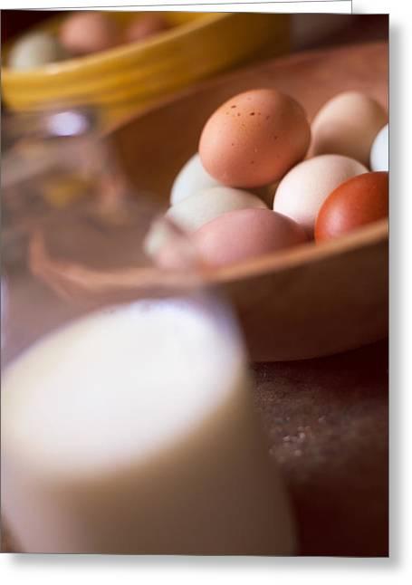 Fresh Eggs Greeting Cards - Fresh Eggs  Greeting Card by Toni Hopper