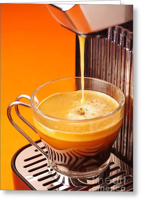 Fresh Espresso Greeting Card by Carlos Caetano