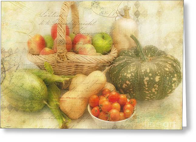 Lindalees Greeting Cards - Fresh from the Garden Greeting Card by Linda Lees