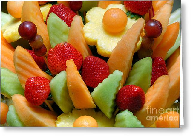 Melon Greeting Cards - Fresh Fruit Arrangement Greeting Card by Amy Cicconi