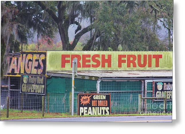 Farm Stand Greeting Cards - Fresh Fruit Greeting Card by Chuck  Hicks
