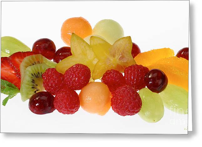 Strawberry Art Greeting Cards - Fresh Fruit Salad Greeting Card by Iris Richardson