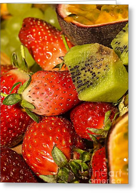 Passionfruit Greeting Cards - Fresh fruit salad Greeting Card by Tomi Junger