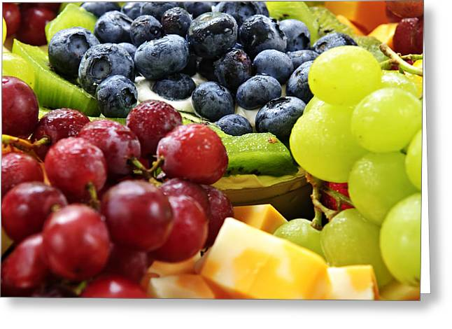 Best Sellers -  - Swiss Photographs Greeting Cards - Fresh Fruits and Cheese Greeting Card by Elena Elisseeva