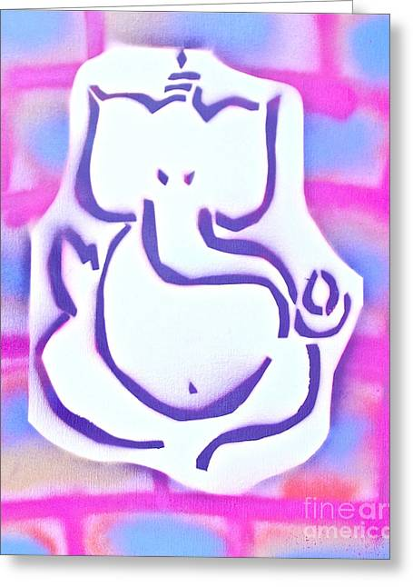 First Amendment Greeting Cards - Fresh Ganesh 3 Greeting Card by Tony B Conscious