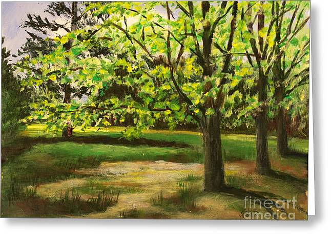 Nature Center Greeting Cards - Fresh Green Spring Greeting Card by Janet Felts