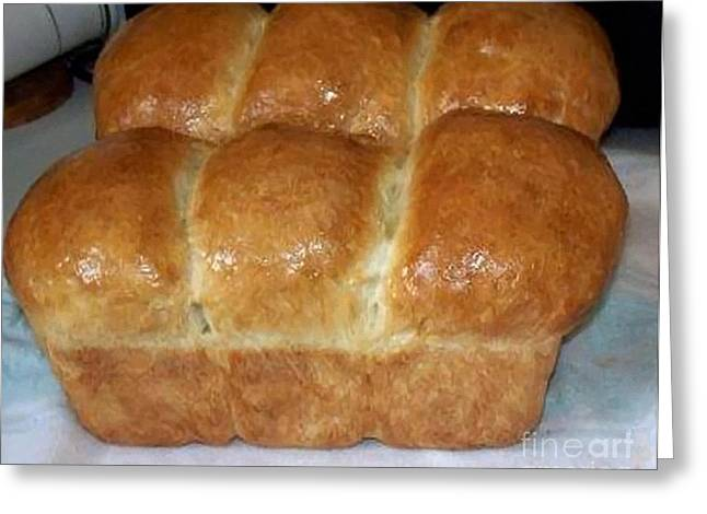 Loaf Of Bread Digital Greeting Cards - Fresh Homemade Bread Greeting Card by Barbara Griffin