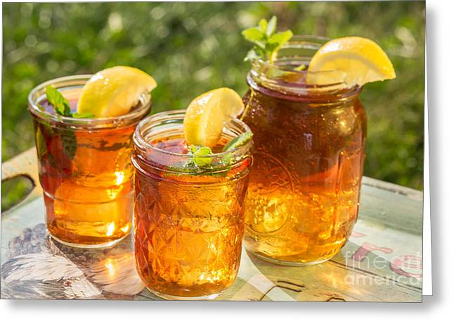 Commercial Photography Greeting Cards - Fresh Ice Tea Greeting Card by Iris Richardson