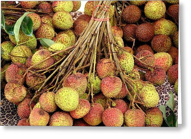 Lychee Greeting Cards - Fresh Lychee for Sale Greeting Card by Yali Shi