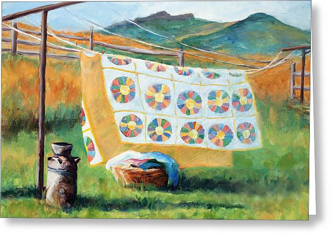 Laundry Greeting Cards - Fresh Greeting Card by Mary Giacomini