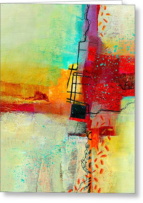 Abstract Collage Greeting Cards - Fresh Paint #2 Greeting Card by Jane Davies