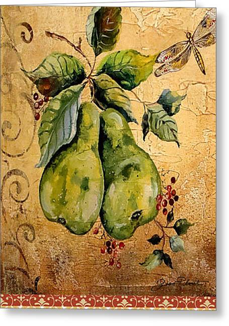Acrylic Art Greeting Cards - Fresh Pears Greeting Card by Jean Plout