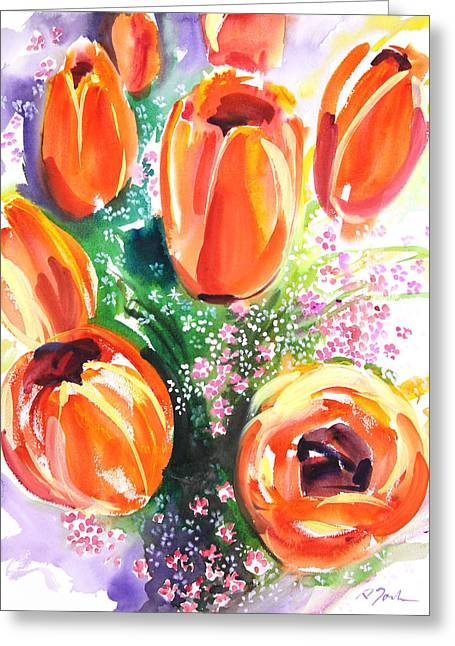 Millbury Greeting Cards - Fresh Pick No.398 Greeting Card by Sumiyo Toribe
