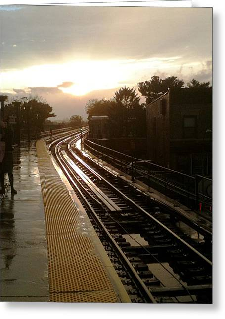 Mietko Greeting Cards - Fresh Pond Rd Station Greeting Card by Mieczyslaw Rudek Mietko