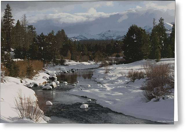 West Fork Greeting Cards - Fresh Snow along the West Fork of the Carson River Greeting Card by John Gaffney