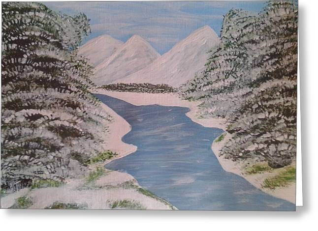 Pastel Mountains Metal Prints Greeting Cards - Fresh Spring Water Greeting Card by Erica  Darknell