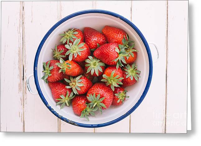 Fresh Strawberries  Greeting Card by Viktor Pravdica