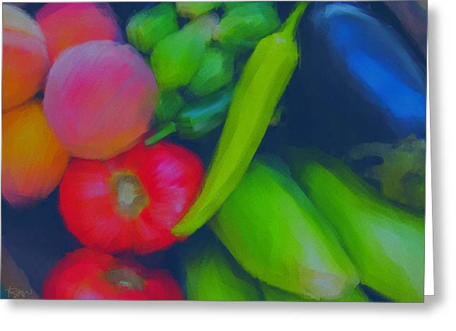 Healthy Pastels Greeting Cards - Fresh Today Greeting Card by Robin Webb