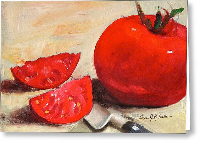Tomato Drawings Greeting Cards - Fresh Tomatoes Greeting Card by Dan Redmon