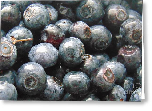 Grocery Store Greeting Cards - Fresh Virginia Blueberries Greeting Card by Charlotte Gray