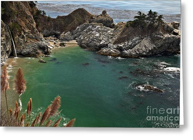 Big Sir California Greeting Cards - Fresh Water Into The Bay Greeting Card by Adam Jewell