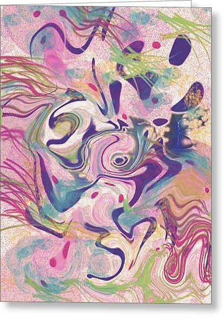 Jelly Fish Art Prints Greeting Cards - Fresh Water Jelly Fish Greeting Card by Tiffany Selig