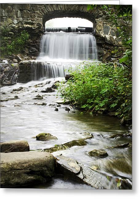 Nature Scene Greeting Cards - Fresh Water Stream Under Bridge Greeting Card by Christina Rollo