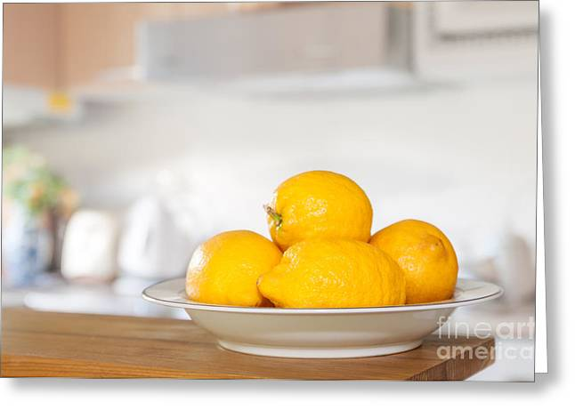 Lemon Greeting Cards - Freshly Picked Lemons Greeting Card by Amanda And Christopher Elwell