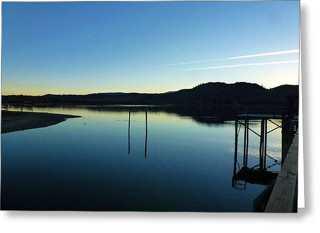 Clean Water Pyrography Greeting Cards - Freshwater Clearlake California Greeting Card by Fabien White