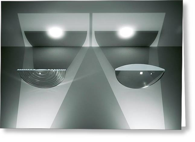 Fresnel And Plano-convex Lenses Greeting Card by David Parker