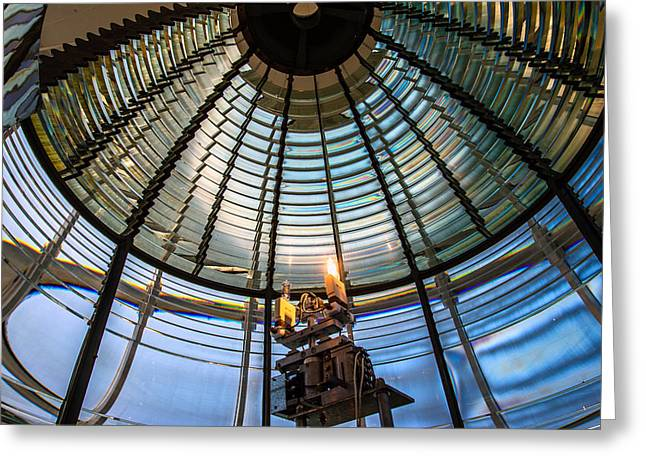 Fresnel Greeting Cards - Fresnel Lens II Greeting Card by Mike Ronnebeck