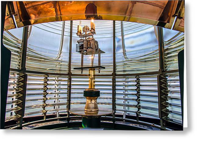 Fresnel Greeting Cards - Fresnel Lens Greeting Card by Mike Ronnebeck